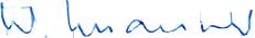 Unterschrift von Walter Maurer, Managing Director der Waterjet AG, einer Spezialistin im Wasserstrahlschneiden (waterjet cutting und micro waterjet cutting)