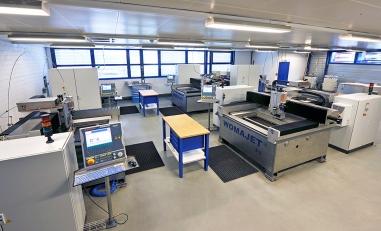 Dans le centre de production de Microwaterjet SA à Aarwangen